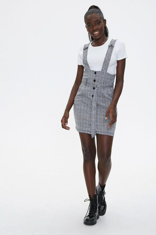 Plaid Pinafore Dress & Tee Set, image 4