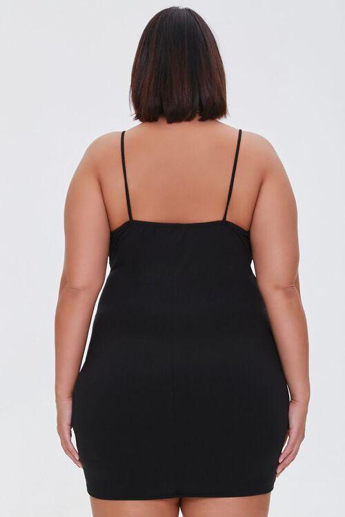 BLACK Plus Size Ruched Cami Dress, image 3