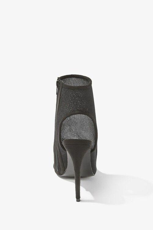Sheer Mesh Peep-Toe Heels, image 3