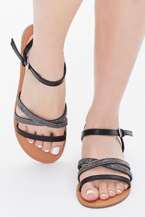 Rhinestone Strappy Sandals, image 4