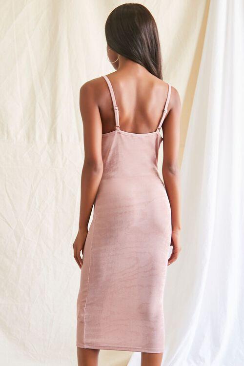 MAUVE Cowl Neck Cami Midi Dress, image 3