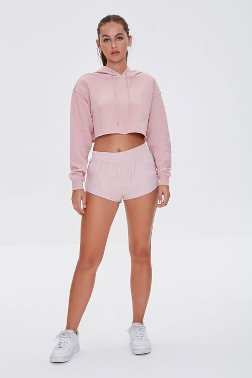 Active Cropped French Terry Hoodie, image 5