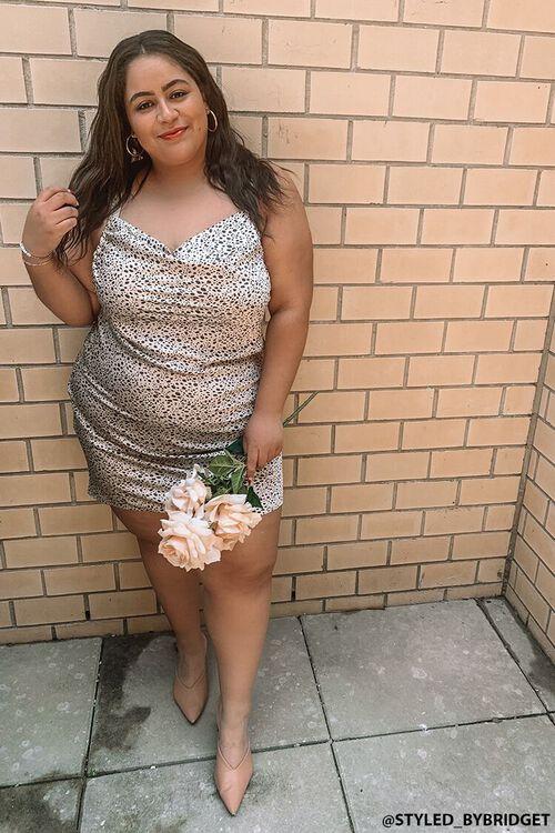 Plus Size Cheetah Print Dress, image 1