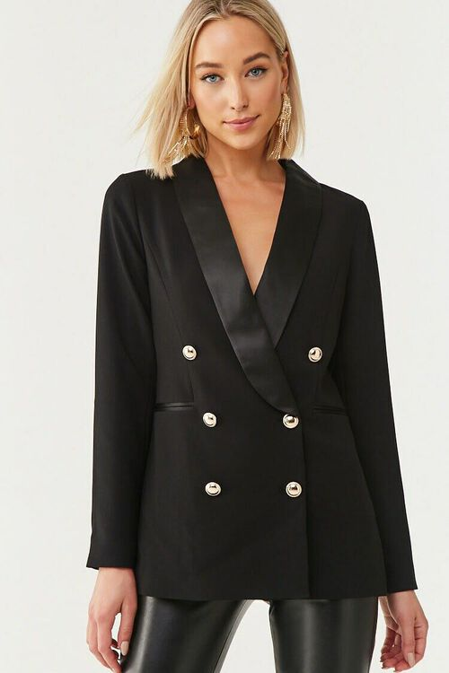 Double-Breasted Buttoned Blazer, image 1
