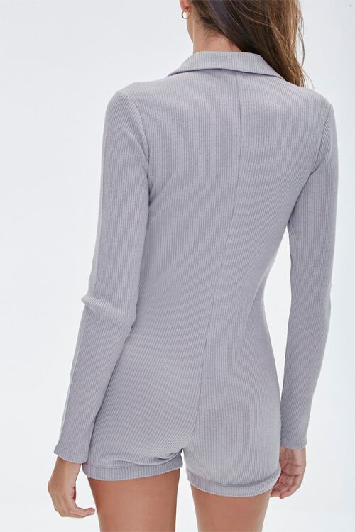 Ribbed Button-Front Romper, image 3