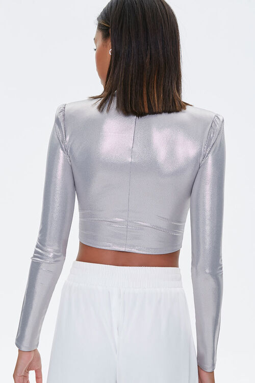 Metallic Pin Dot Crop Top, image 3