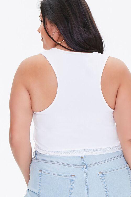 Plus Size Lace-Trim Tank Top, image 3