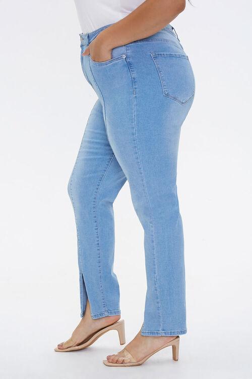 Plus Size Slit-Hem Ankle Jeans, image 3
