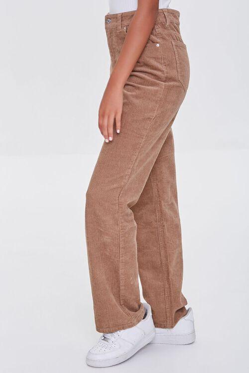 TAN Ribbed Relaxed Pants, image 3