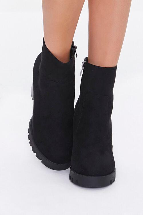 Velvet Block Heel Booties, image 4