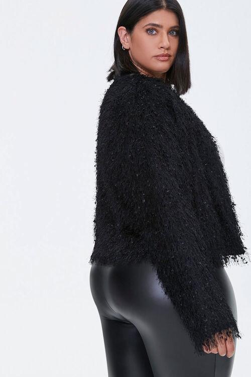 Plus Size Shaggy Open-Front Jacket, image 2