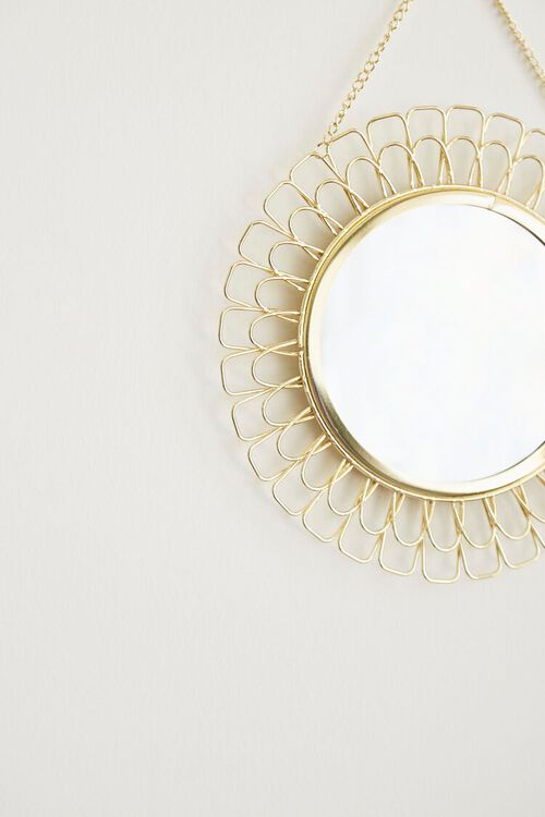 GOLD Cutout Flower Wall Mirror, image 2