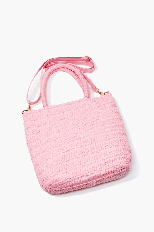 Faux Straw Tote Bag, image 1