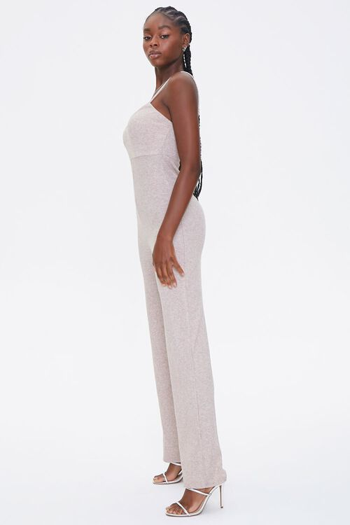 OATMEAL Ribbed Cami Jumpsuit, image 2