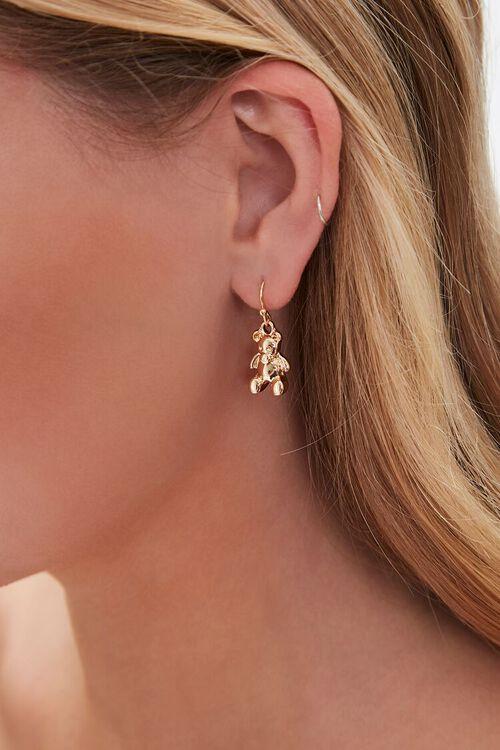 Teddy Bear Pendant Drop Earrings, image 1