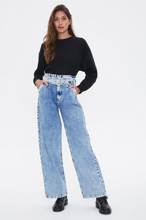 Paperbag Wide-Leg Jeans, image 1