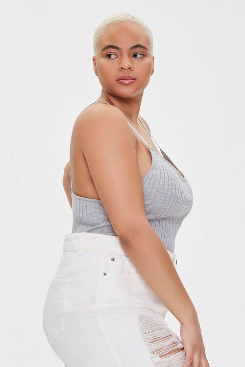 Plus Size Ribbed Cami Bodysuit, image 2