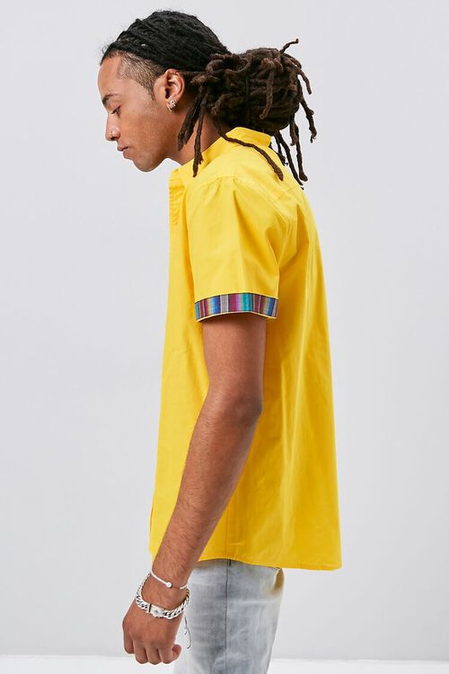 Striped-Trim Fitted Shirt, image 2