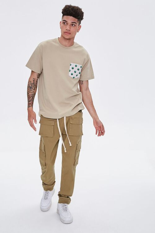 Cuffed Drawstring Cargo Pants, image 5