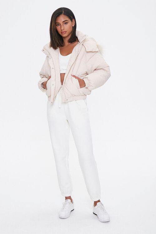 Faux Fur Hooded Puffer Jacket, image 4