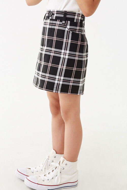 Girls Multicolor Plaid Skirt (Kids), image 3