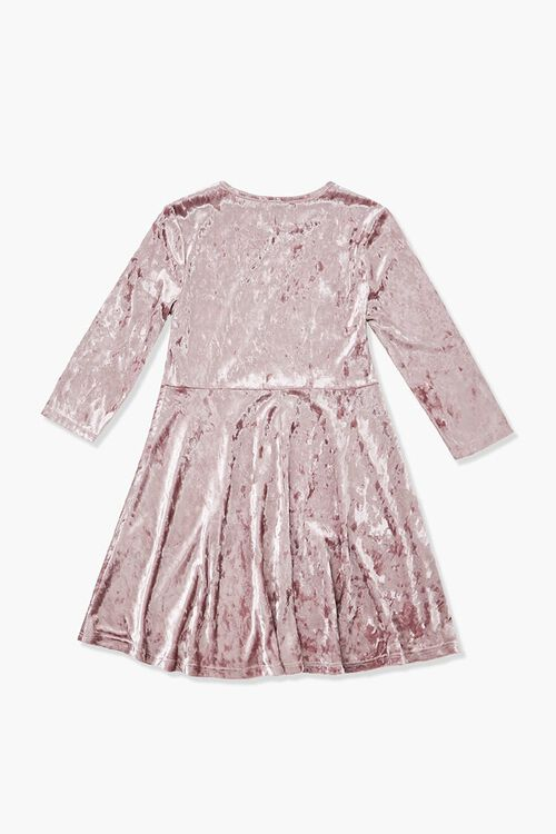 Girls Velvet Skater Dress (Kids), image 2