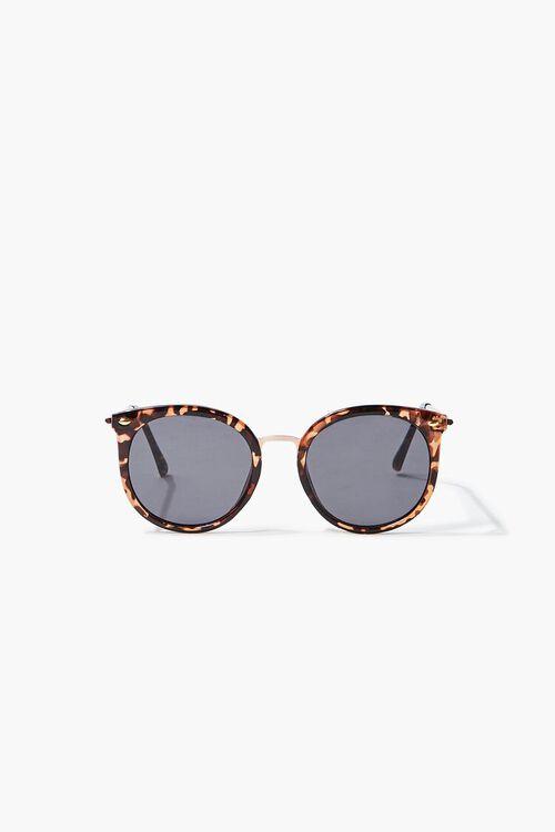 Tortoiseshell Round Sunglasses, image 3