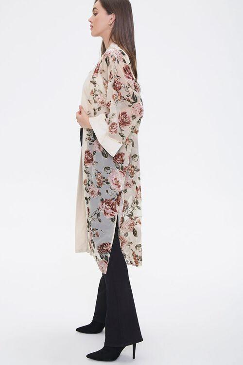 Velvet Rose Print Kimono, image 2