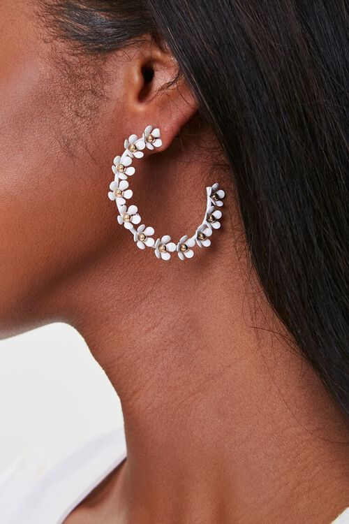 Daisy Hoop Earrings, image 1