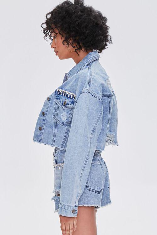 Rhinestone-Trim Denim Jacket, image 2