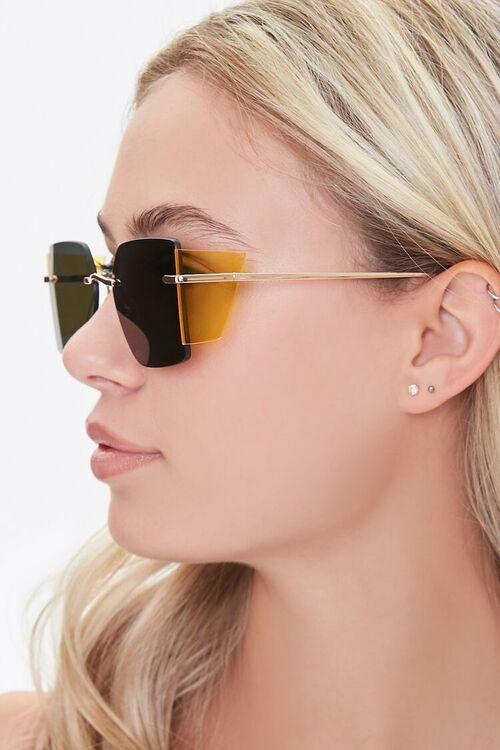 GOLD/BLACK Square Novelty Sunglasses, image 2