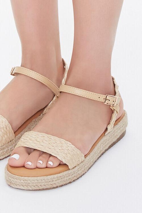 Braided-Strap Espadrille Flatform Sandals, image 5