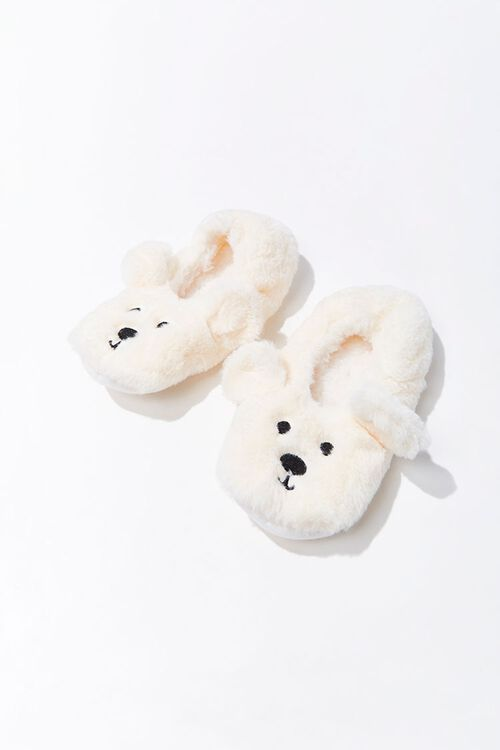Plush Polar Bear Indoor Slippers, image 1