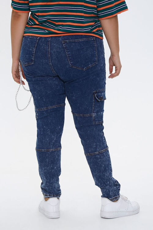 Plus Size Wallet Chain Skinny Jeans, image 4