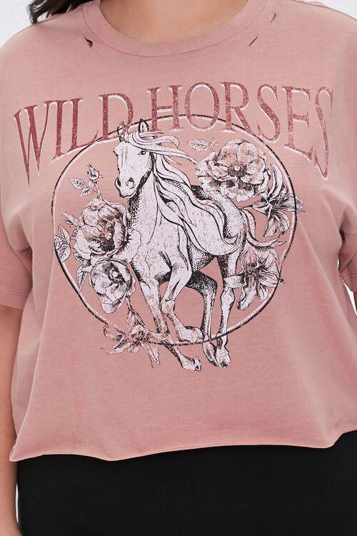 Plus Size Wild Horses Graphic Tee, image 5