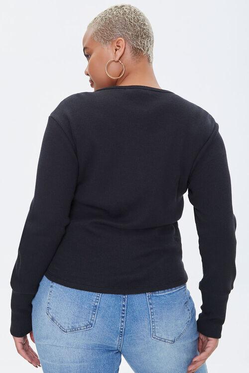 Plus Size Waffle Knit Top, image 3