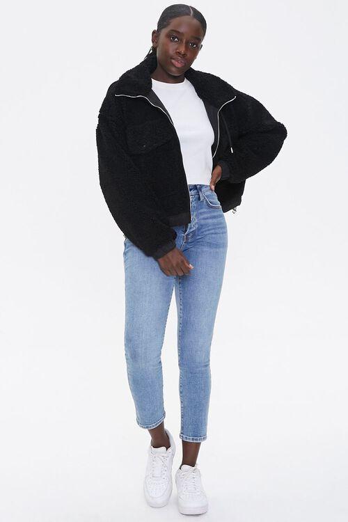Faux Shearling Zip-Up Jacket, image 4