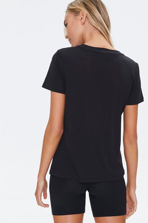 Basic Cotton-Blend V-Neck Tee, image 3