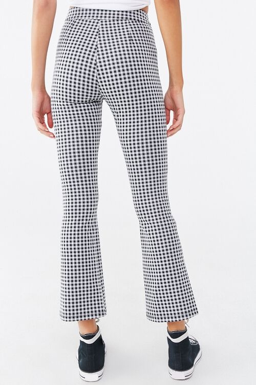 Gingham Print Flare Pants, image 4