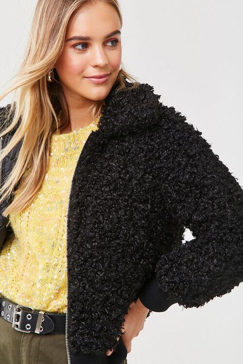 Boucle Knit Teddy Jacket, image 1