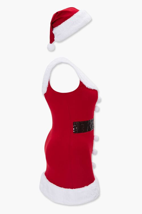 RED/CREAM Plus Size Santa Tank Dress, image 2