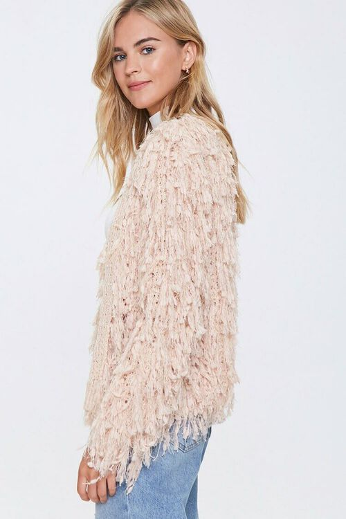 Shaggy Open-Front Cardigan, image 2