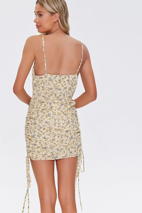 Floral Ruched Mini Dress, image 3