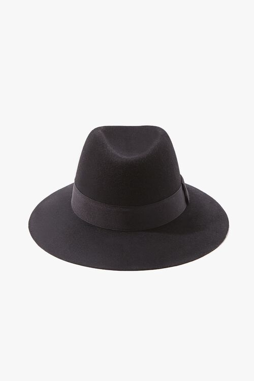 Brushed Ribbon-Trim Fedora, image 1