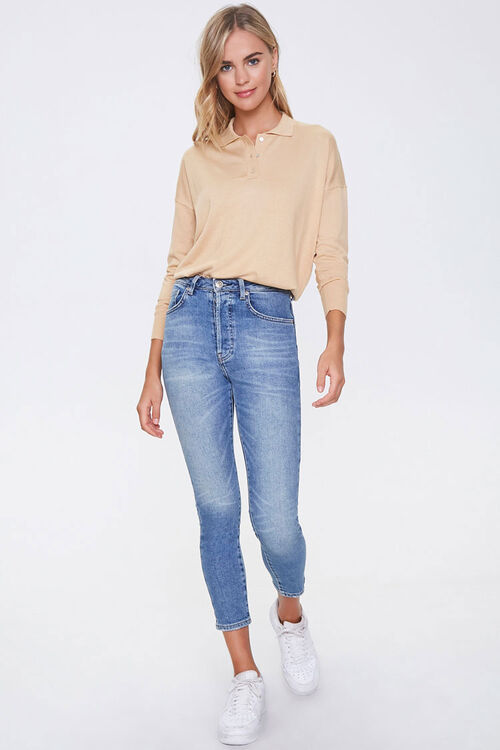 Ribbed Collared Top, image 4