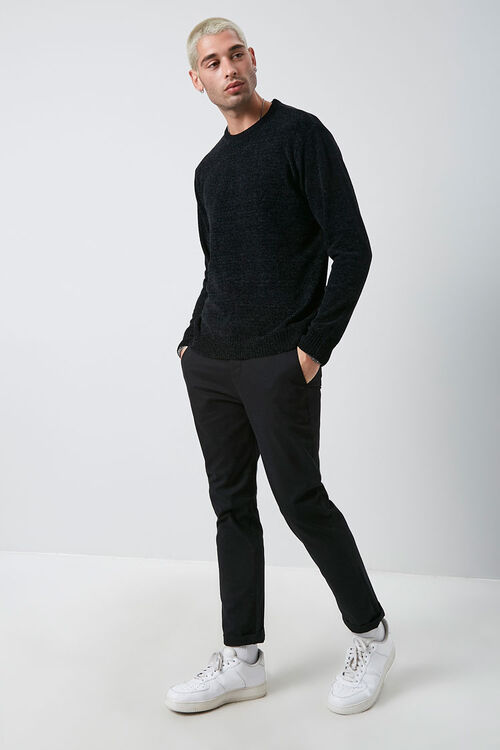 Chenille Crew Neck Sweater, image 4