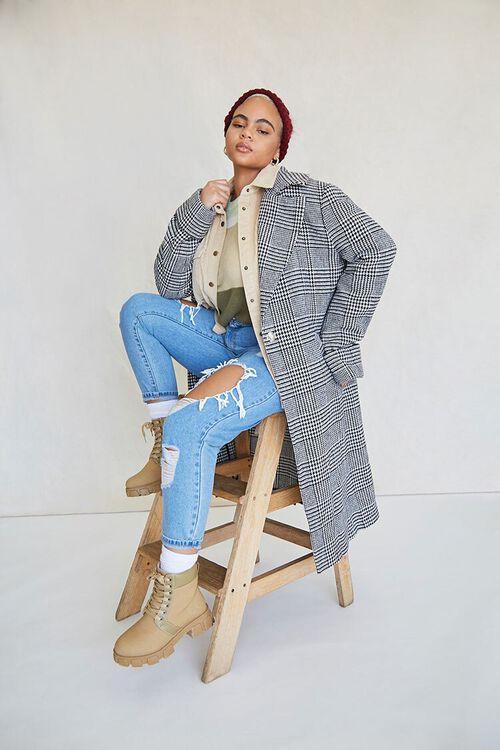 Plus Size Glen Plaid Coat, image 1