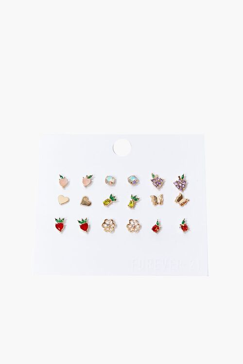 Fruit Charm Stud Earring Set, image 1