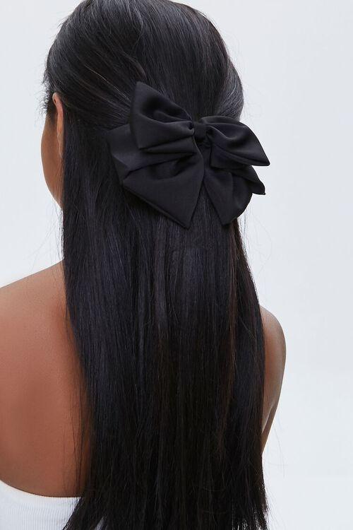 BLACK Hair Bow Barrette, image 1
