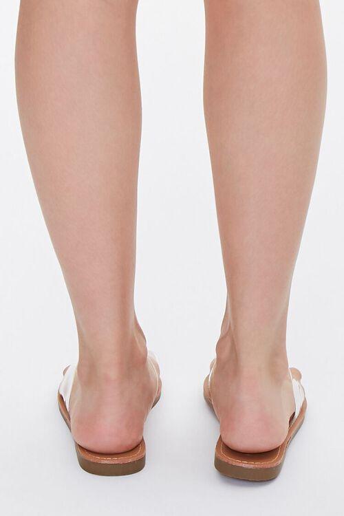 Transparent Faux Leather Sandals, image 3